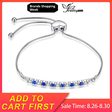 JewelryPalace Bracelets For Women 925 Sterling Silver Created Blue Spinel Cubic Zirconia Adjustable Girl Gifts Fine Jewelry jewelrypalace elegant 2 43ct created alexandrite sapphire cubic zirconia halo adjustable bracelets for women 925 sterling silver
