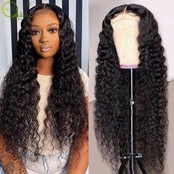 Sterly бразильская глубокая волна фронтальной парик глубоко вьющиеся человеческие волосы парик кружева Закрытие парики для Для женщин 4x1 част...
