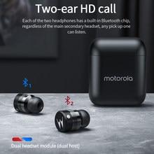 Oryginalny Motorola Vervebubed 110 TWS bezprzewodowe słuchawki redukcja szumów słuchawki HD połączenia Bluetooth sport wodoodporne słuchawki