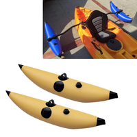 2Pcs Kayak PVC Inflatable Outrigger Canoe Fishing Boat Standing Float Stabilizer System Accessories Durable & Long Lasting