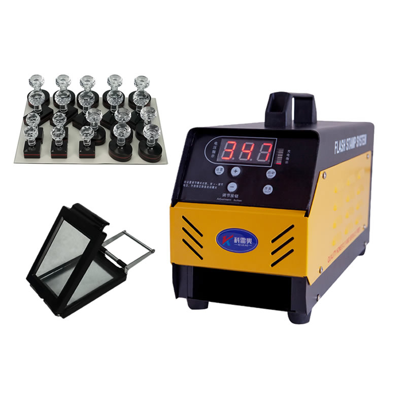 P30 Automatic Digital Photosensitive Seal Machine PSM Stamp Maker Flash Stamp System with Free Gift Pack
