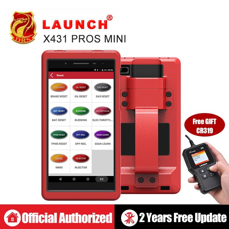 Авто инструмент диагностики Launch X431 Pros Mini с 6.8'' экран PC Поддержать Wi Fi/Bluetooth полные системы Бесплатное 2 год онлайн обновление-in Тестеры аккумуляторов from Автомобили и мотоциклы