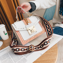 Fashion Bags Ladies Luxury Handbag Shoulder Bag For Women Rivet Small Letter Messenger Crossbody 2019