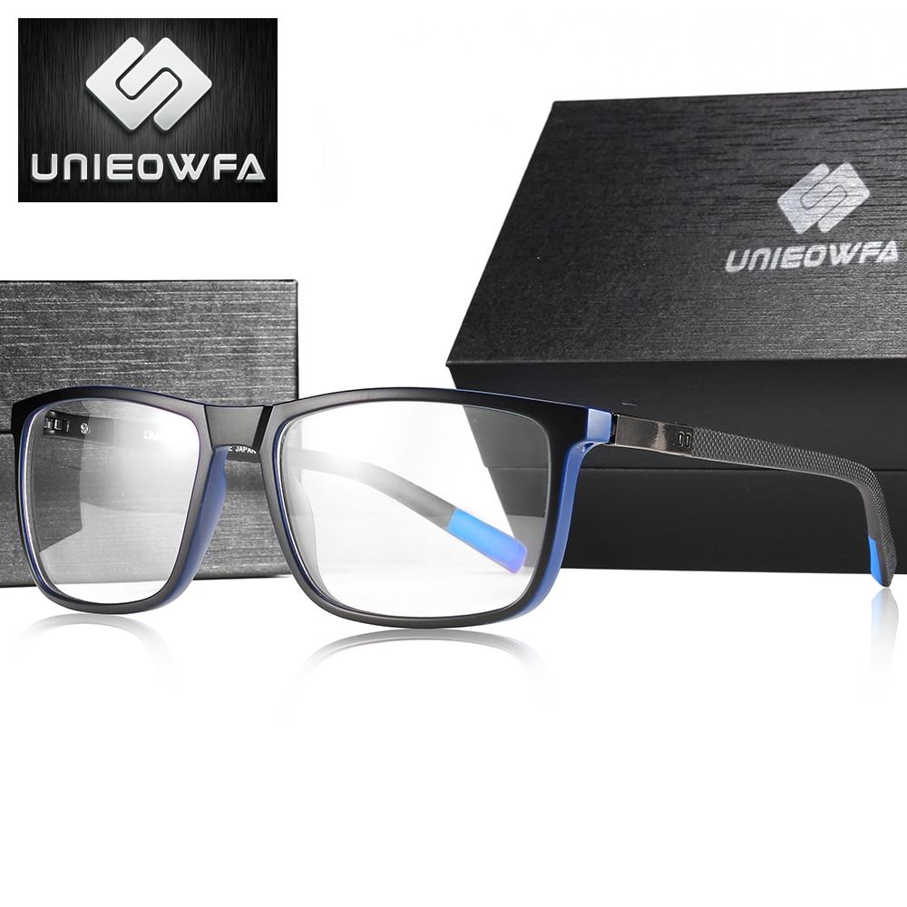 Gafas graduadas con montura cuadrada de Corea para hombre, montura de gafas ópticas para miopía, montura transparente para hombre, marca TR90