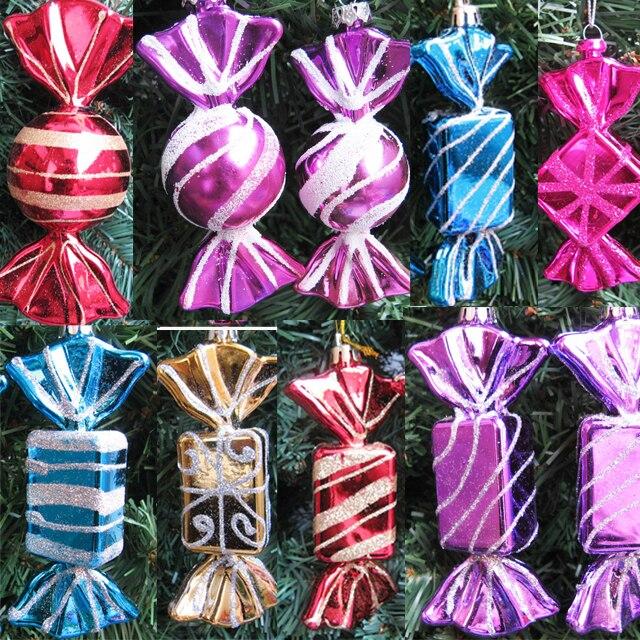 Adorno de Navidad decoración colgante árbol de Navidad decoración color caramelo niños juguetes 14cm1 24 piezas Disney Mickey Mouse dibujos animados cumpleaños fiesta pastel decoraciones suministros Minnie cupcakes envoltorios y Toppers suministros de Navidad