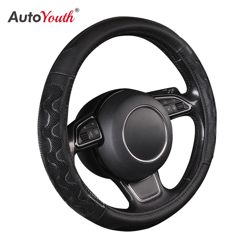 New Car Steering Wheel Cover High Quality Universal Steering Wheel Cover 38 cm   15 Inch 3 Colors Optional Car Interior