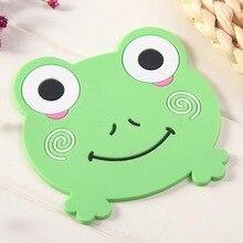 Cute Cartoon Animals Shape Non-Slip Insulation Silicone Pad Coaster Home Decoration Accessories Kitchen