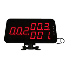 Number calling display receiver Counter Monitor connect to PC show calling information K-4-C-USB with English Sound Prompt
