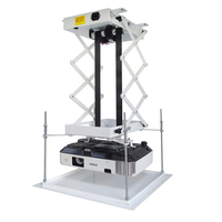 Motorized Scissor Projector Lift Projector Bracket 70CM Ceiling Projector Lift with Remote Control For Cinema/Church Hall/School