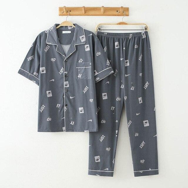 Пижама мужская с коротким рукавом 5
