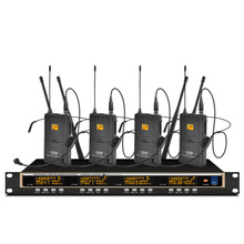 Orban professional UHF wireless microphone system four headset microphones for church school stage performance microphones high end uhf 8x50 channel goose neck desk wireless conference microphones system for meeting room