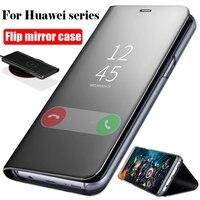 Funda de espejo inteligente anticaída con soporte funda de teléfono para Xiaomi A2 Lite Redmi Note 4X 5A A6 3 4 5 6 S2 Y2 GO Plus Pro