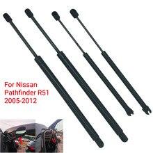 Janela traseira bagageira bota suportes de gás suporte elevador barra de suporte para nissan pathfinder r51 2005 - 2007 2008 2009 2010 2011 2012 2013