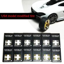 4 шт./компл. 1: 64 шины для легковых автомобилей модель изменение шин Diecasts сплава для колес Стикеры для колеса шины резиновая игрушка автомобильное общее модель автомобиля изменение аксессуары