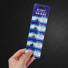 5PCS Литий Батарея CR1225 электронный монета сотового аккумулятора кнопочного типа 3V LM1225 BR1225 KCR1225 CR 1225 часы автомобиль игрушка ключ пульт дистанционного управления