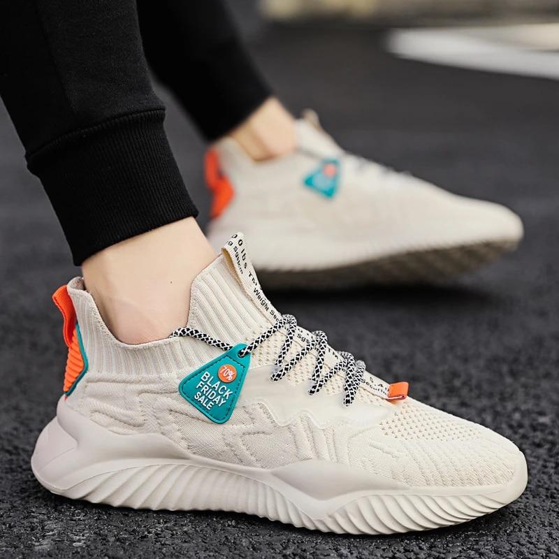 Damyuan-tênis de corrida masculino, calçados casuais para homens, malha respirável, esportivo, para corrida