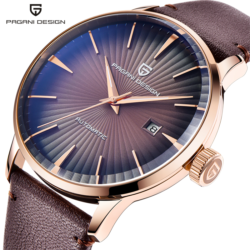 PAGANI Design 2770 Men's Watches Classic Mechanical Leather Watch Men Luxury Men Automatic Watches Business Waterproof Clock Man