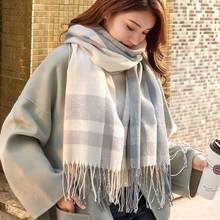 VEITHDIA 2020 Autumn Winter Female Plaid Scarf Women fashion Scarves Wide Lattices Long Shawl Wrap Blanket Warm Tippet(China)