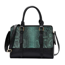 Womens bag 2019 new fashion snakeskin handbags high-grade PU leather ladies shoulder portable Messenger