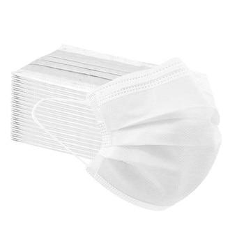 Mascarilla de protección sólida desechable de 3 capas para adultos y hombres, mascarilla desechable
