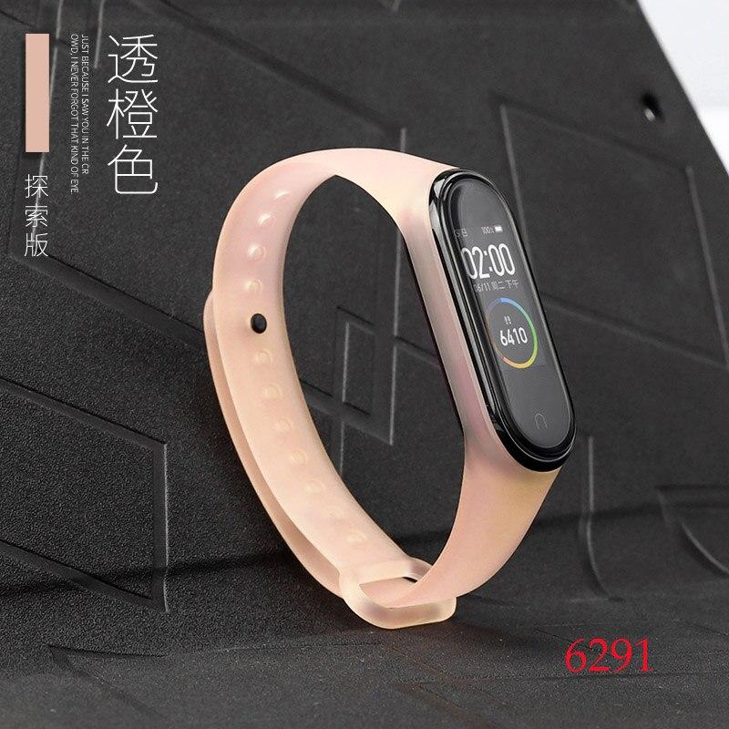 Для Xiaomi Mi Band 4/3 ремешок Металлическая пряжка силиконовый браслет аксессуары miband 3 браслет Miband 4 ремешок для часов М - Цвет: 6291