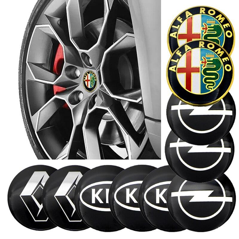 4 pçs 56mm roda de pneu centro cubo tampas adesivo para vw volkswagen r linha scirocco bora golf passat sharan amarok cc audi a3 a4 a5