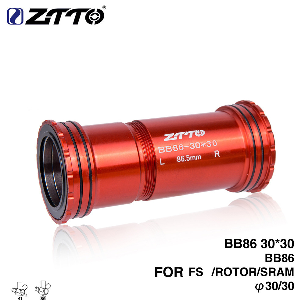 ZTTO BB86 30 press-fit external bearing for road bike MTB86mm <font><b>frame</b></font> BB shell bottom bracket use 30mm BB386 crank chain <font><b>set</b></font> image