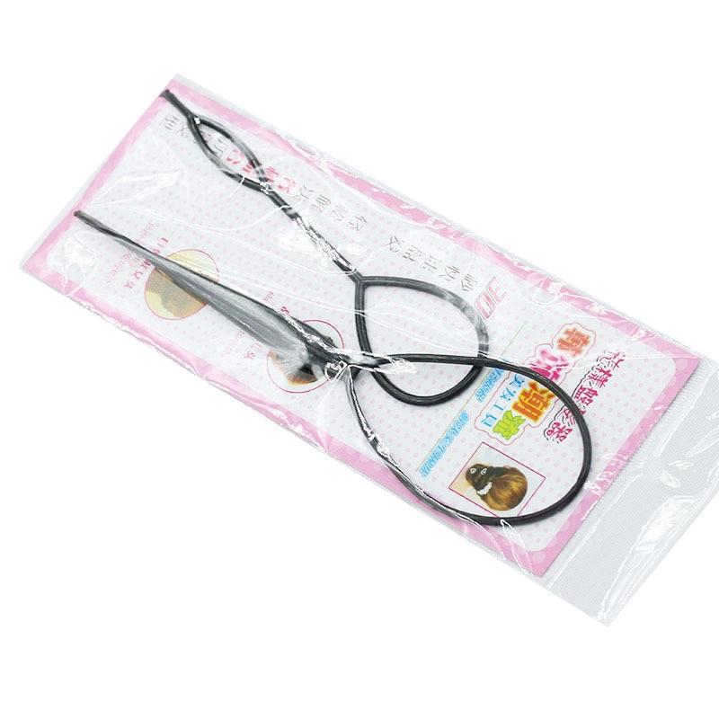 Черные волосы для хвоста, оплетка для конского хвоста, инструменты для укладки волос, пластиковая петля для создания конского хвоста, аксес...