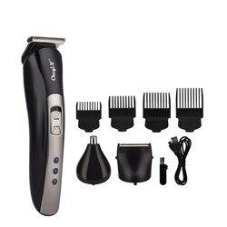 3 em 1 máquina de cortar cabelo profissional aparador de cabelo elétrico dos homens máquina de corte de cabelo barbeador elétrico navalha barba nariz trimmer