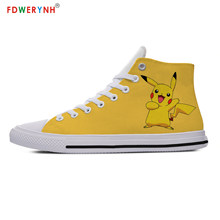 Men Walking Shoes Men's Casual Shoes Pikachu Newest Detective Cosplay Pikachu Casual Shoes Teenagers Boys And Girls Shoes(China)