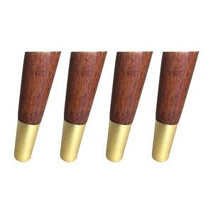 Image 5 - 4PCSธรรมชาติเฟอร์นิเจอร์ไม้ขายางไม้โต๊ะขาเหล็กแผ่นสกรู
