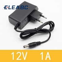 1PCS 12V1A New AC 100V-240V Converter power Adapter DC 12V 1A 1000mA Power Supply EU Plug DC 5.5mm x 2.1mm