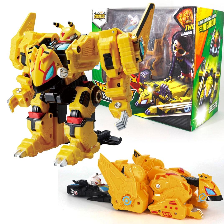 Monkart StormCarts Transformation Robot Moncha Car MEGA MEECARDS COMBO Bitroid Zero Draka Leo Megaroid Toy For Kids Gifts