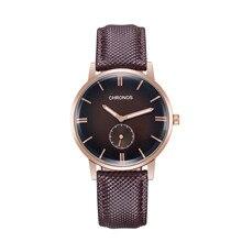 купить 2019 CHRONOS Fashion Popular Men Watches Women Quartz Wristwatches Non-mechanical Belt Business Casual Quartz Relogio Masculino по цене 691.04 рублей