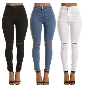 2020 New Arrival Fashion Hot Women Denim Skinny Pants High Waist Stretch Jeans Slim Pencil Ladies Casual Jeans W46