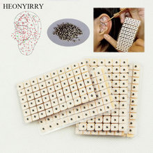 600 Pcs Slimming Stickers Ear Massage Relaxation Acupuncture Needle Ear Vaccaria Seeds Ears Stickers Press Seeds Weight Loss