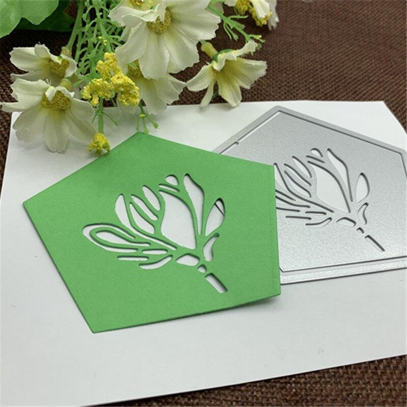Pentagonal Flower Metal Cutting Dies For DIY Scrapbooking Album Paper Cards Decorative Crafts Embossing Die Cuts