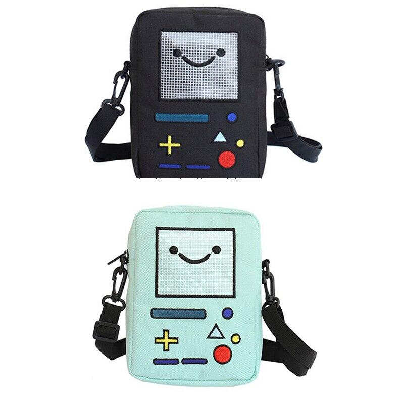 Women Casual Shoulder Bag Cute Girls Mini Nylon Robot Phone Purse Messenger Bolsas De Marca Funny Kawaii Crossbody Bags Mujer