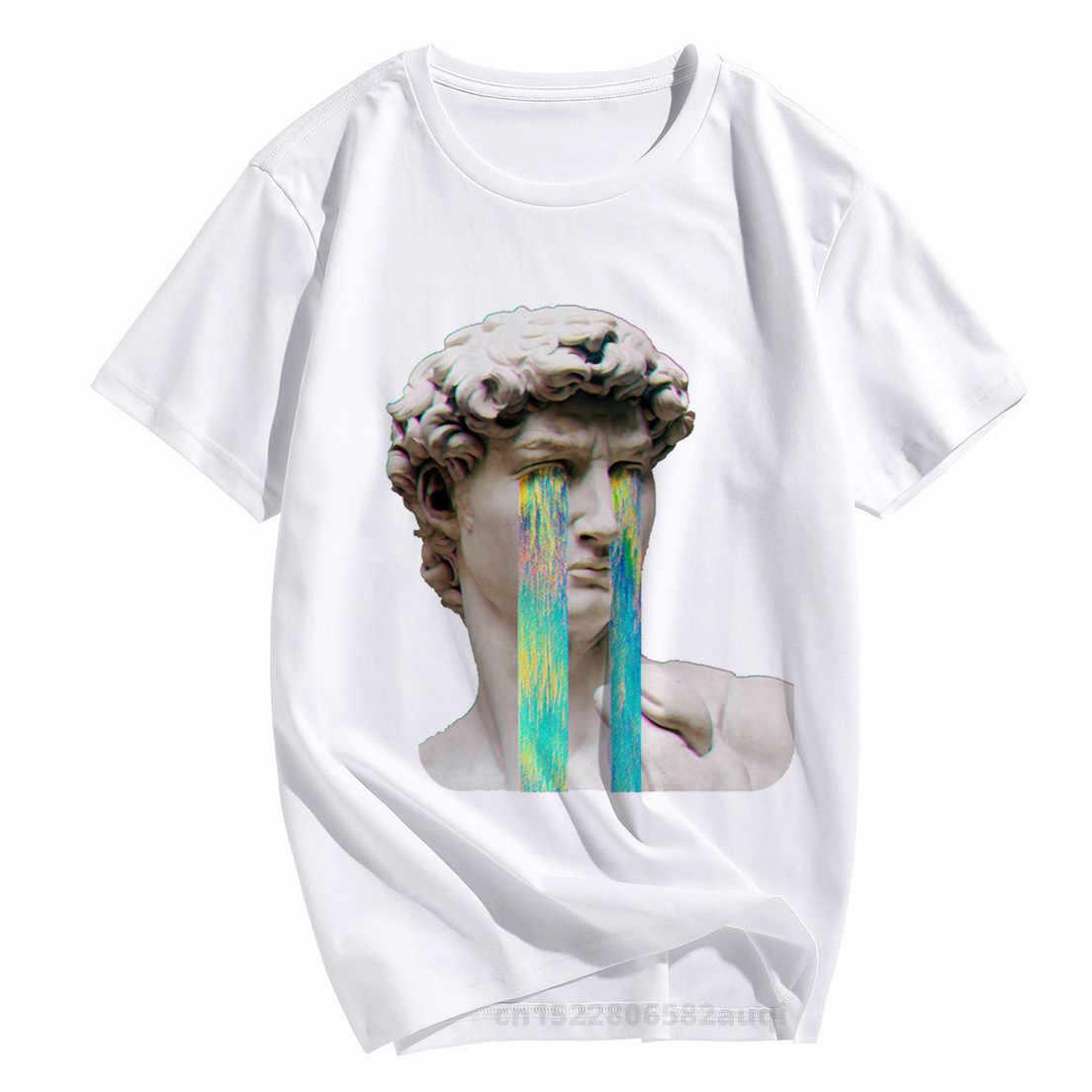 Femmes Vaporwave David Harajuk T-shirt 2020 été triste fille rétro Anime T-shirt garçon japonais esthétique haut T-shirt femmes vêtements