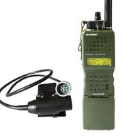 עבור baofeng PRC-152 PRC 152 האריס Dummy רדיו מקרה, צבא Talkie Walkie-דגם עבור Baofeng רדיו, אין פונקציה עם תקע 6 פינים U94 PTT (1)