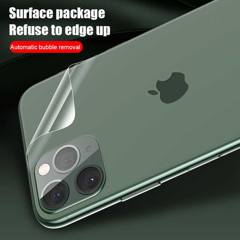 Película de hidrogel para proteção de tela, película protetora traseira para iphone 7 8 plus 11 pro xs max x xr iphone 6 filme 6s plus não vidro