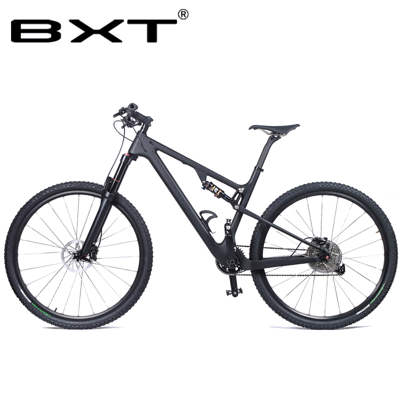 BXT Bicycle Mountain Bike 11 Speed 29 Inches Bike 29 MTB Bike Woman Man Carbon Shock Full Suspension Bike Speed  Free Shipping