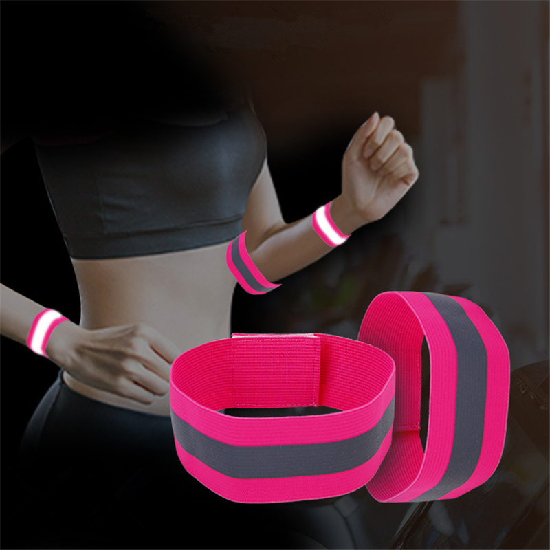 Luminous Night Reflective Safety Belt Night Run Armband For Outdoor Sports Night Running Cycling Jogging Arm Strap Arm Band