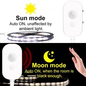 5M LED-Licht Streifen PIR Wasserdichte USB Motion Sensor 5V Unter Kabinett Licht Küche Lampe 2835 Band LED streifen Schlafzimmer Beleuchtung