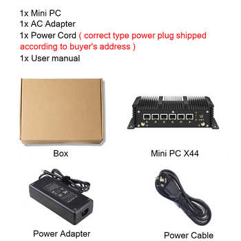 Xcy Fanless Mini Pc Intel Core i5 8265U Celeron 6 LAN 211at Gigabit Ethernet 2*Usb 3.0 HDMI RS232 Firewall Router PFsense Minipc