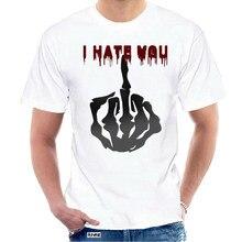 Eu odeio você camiseta capaz dos homens t camisa gola redonda crânio preto gótico t-shirts curto topo masculino vintage dropshipping @ 036682