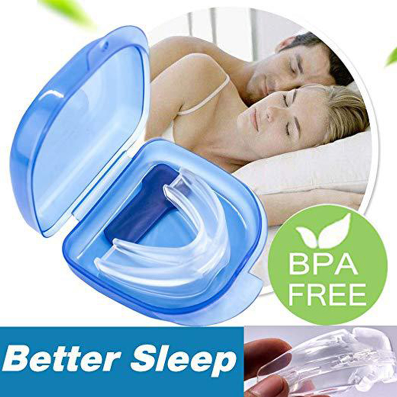 Silicone Stop Snoring Anti Snoring Nose Breathing Snore Stopper For Sleeping Bruxism Teeth Trays Health Care Dental Equipment