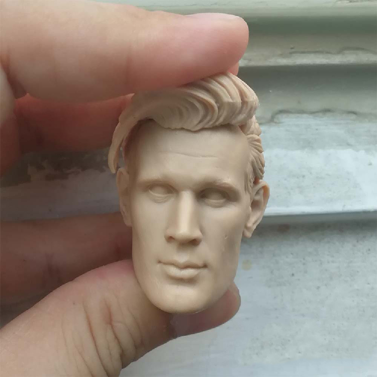 1/6 Scale Famous Star Matt Smith Unpainted Head
