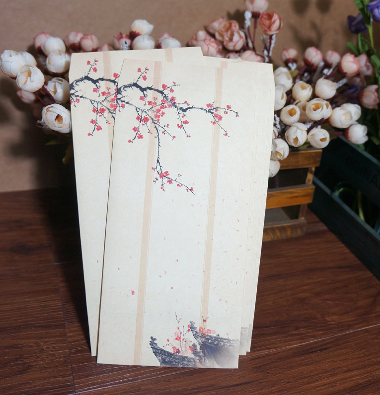 Traditional Chinese-style Chinese Style No. 5 Retro Envelope Of Samuume Get Branch