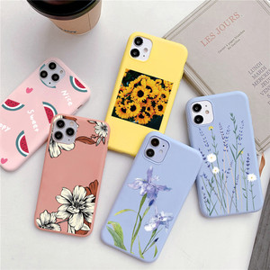 Candy Color Flower TPU Case For Samsung Galaxy A21S A51 A71 A10 A20 A30 A40 A50 A70 S20 Ultra S10 S8 S9 Note 8 9 10 20 Plus Capa
